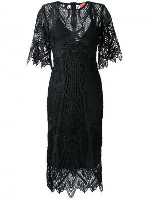 Платье Point Taken Manning Cartell. Цвет: чёрный