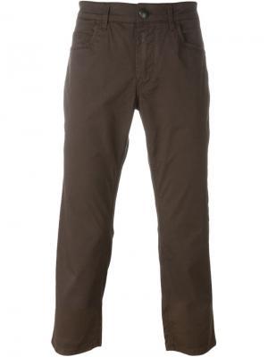 Классические брюки-чинос Fay. Цвет: коричневый
