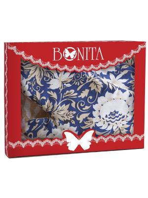 Полотенце кухонное BONITA. Цвет: синий, темно-бежевый