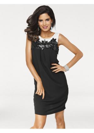 Коктейльное платье Ashley Brooke. Цвет: черный/экрю