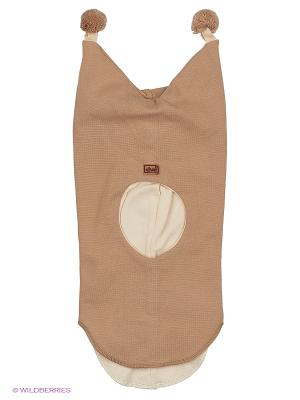 Шапка-шлем Kivat. Цвет: коричневый, бежевый