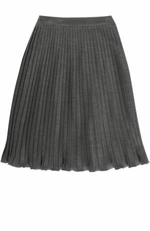 Плиссированная юбка из вискозы Caf. Цвет: серый