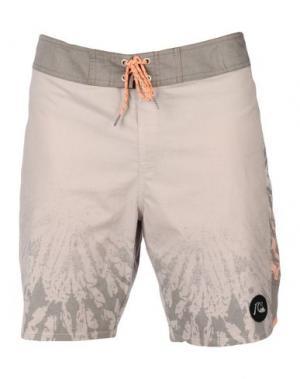 Пляжные брюки и шорты QUIKSILVER. Цвет: светло-серый
