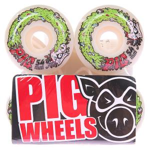Колеса для скейтборда  Swine Flu 101A 54 mm Pig. Цвет: белый
