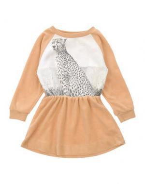 Платье POPUPSHOP. Цвет: песочный