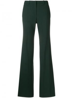 Расклешенные брюки Theory. Цвет: зелёный