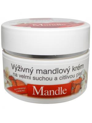 Натуральный питательный крем для лица Миндаль 51 мл. BioBione. Цвет: белый