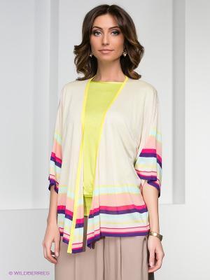 Кардиган O De Mai. Цвет: светло-бежевый, желтый, фиолетовый