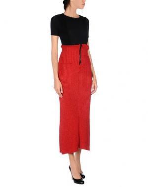 Длинная юбка AKEP. Цвет: красный