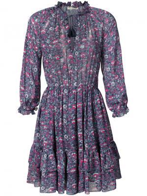 Платье Ollie Ulla Johnson. Цвет: синий