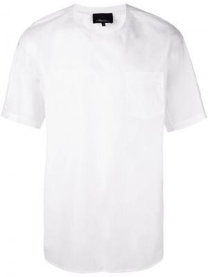 Рубашка с нагрудным карманом 3.1 Phillip Lim. Цвет: белый