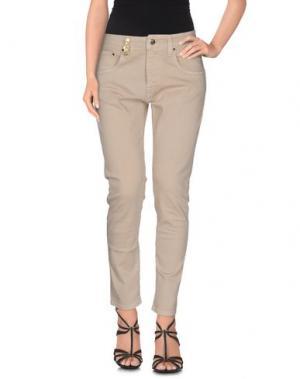 Джинсовые брюки JIJIL. Цвет: песочный