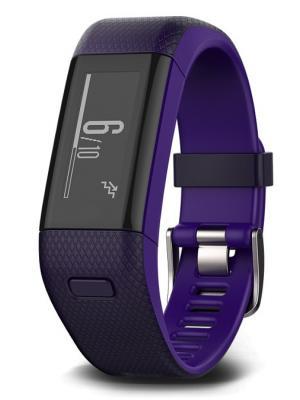 Фитнес-браслет Vivosmart HR+ фиолетовый со встроенным пульсометром GARMIN. Цвет: темно-фиолетовый