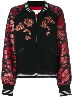 Куртка-бомбер с цветочным принтом Rodarte. Цвет: чёрный