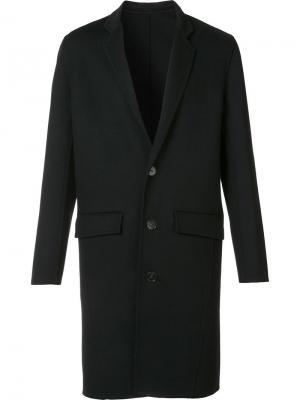 Однобортное пальто Harmony Paris. Цвет: чёрный
