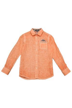 Рубашка ASTON MARTIN. Цвет: оранжевый