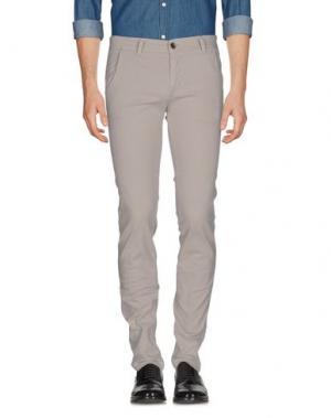 Повседневные брюки 9.2 BY CARLO CHIONNA. Цвет: голубиный серый