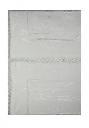 Комплект постельного белья 1,5-спальный Asabella. Цвет: белый