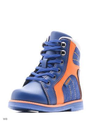 Ботинки ортопедические ORTHOBOOM. Цвет: голубой, оранжевый