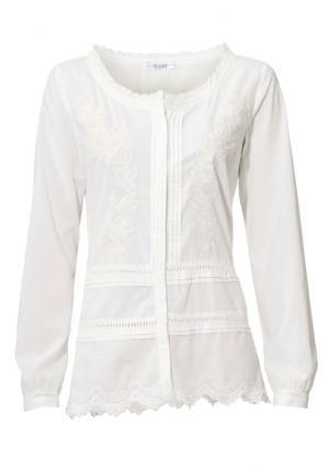 Блузка LINEA TESINI by Heine. Цвет: экрю