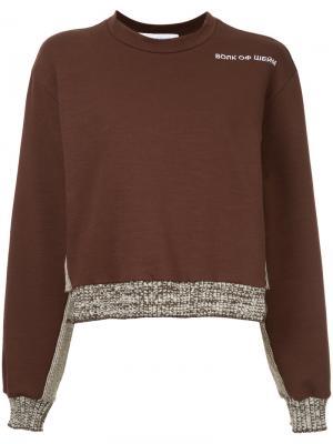 Contrast hem and cuff sweatshirt Walk Of Shame. Цвет: коричневый