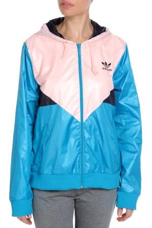 Куртка  COLORADO WB adidas. Цвет: синий, розовый