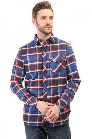 Рубашка в клетку  Check Shirt Blue/Black/Red Skills. Цвет: синий,черный,красный