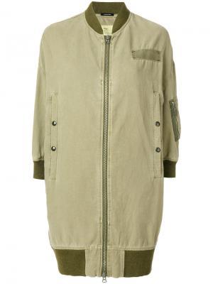 Куртка на молнии с карманами R13. Цвет: зелёный