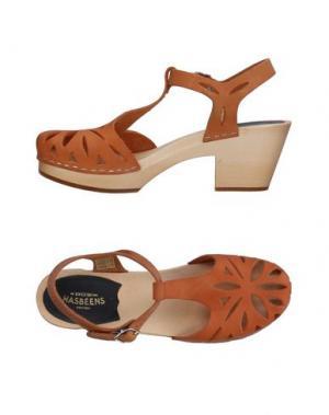Туфли SWEDISH HASBEENS. Цвет: коричневый