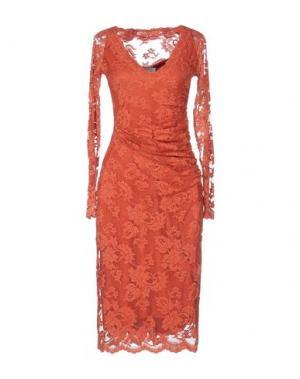 Платье до колена OLVI'S. Цвет: ржаво-коричневый