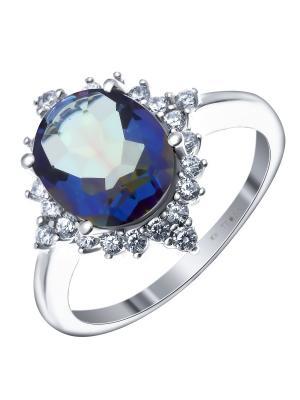 Кольцо Teosa. Цвет: синий, зеленый