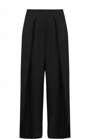 Укороченные расклешенные брюки из льна Isabel Benenato. Цвет: черный