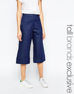 Waven Tall Джинсовая юбка-брюки Vera. Цвет: синий