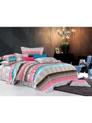 Постельное белье Foresta Семейный Amore Mio. Цвет: бежевый, розовый, коричневый, голубой