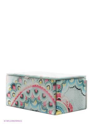 Стеклянная шкатулка для бижутерии Харуйо Kimmidoll. Цвет: бирюзовый