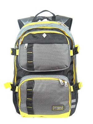 Рюкзак UFO PEOPLE. Цвет: серый, желтый
