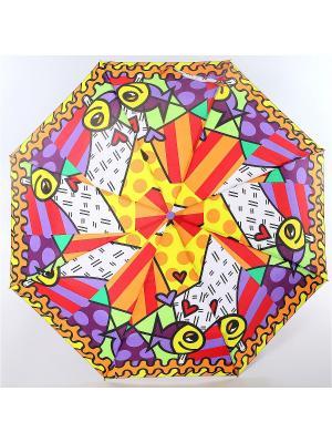 Зонт ArtRain. Цвет: фиолетовый, красный, оранжевый