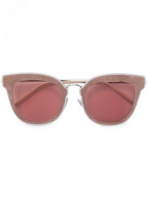 Солнцезащитные очки Nile Jimmy Choo Eyewear. Цвет: розовый и фиолетовый