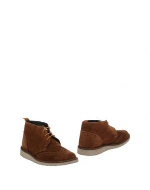 Полусапоги и высокие ботинки ANGELO NARDELLI. Цвет: коричневый
