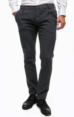 Зауженные серые брюки Antony Morato. Цвет: серый