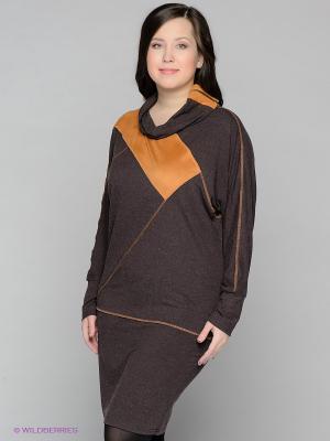 Платье МадаМ Т. Цвет: коричневый, рыжий