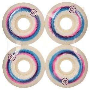 Колеса для скейтборда  Logo Lines 98A 53 mm 3D. Цвет: белый,синий,розовый
