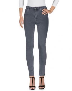 Джинсовые брюки MAJE. Цвет: серый