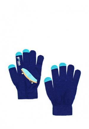 Перчатки Grezzo. Цвет: синий