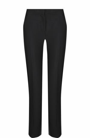 Укороченные расклешенные брюки со стрелками No. 21. Цвет: черный