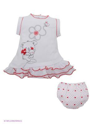 Платье IDO. Цвет: белый, красный