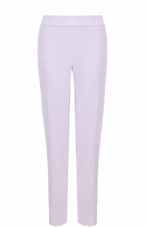 Укороченные брюки прямого кроя со стрелками St. John. Цвет: сиреневый