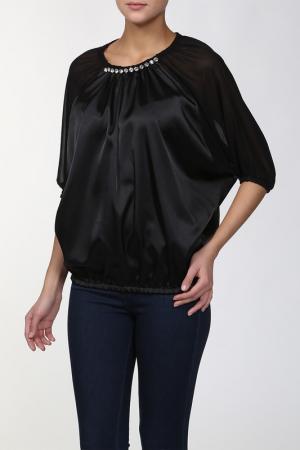 Блуза Frankie Morello. Цвет: черный