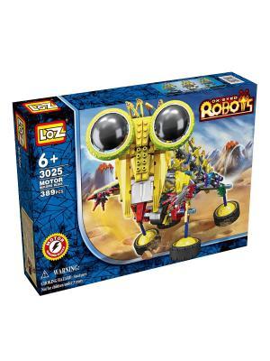 Электромеханический конструктор IROBOT. Серия: Роботы. Шиношлеп Loz. Цвет: синий