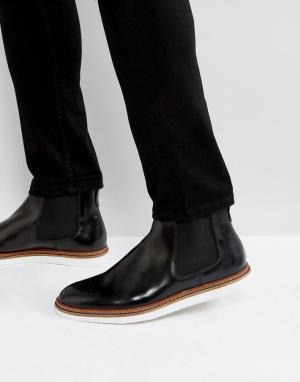 House of Hounds Черные кожаные ботинки челси Avery. Цвет: черный